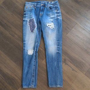 Miss Me Jeans Lace and Embroidery Boyfriend Jeans Size 25